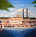 Steamboat On The Mississippi by Valerie Carpenter