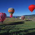 Steamboat Springs Balloon Festival by Stan and Anne Foster