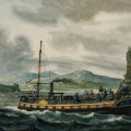 Steamboat Travel On The Hudson River by Pavel Svinin