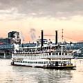 Steamboats At Cincinnati by Mel Steinhauer