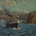 Steamer Leaving Avalon. Catalina Island by Granville Redmond