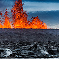 Steaming Lava And Plumes by Panoramic Images
