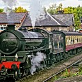Steaming Out Of Grosmont Station by Martyn Arnold