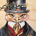 Steampunk Owl Mayor by Christy Freeman Stark