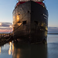 Steamship In Cleveland  by John McGraw
