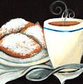 Steamy Coffee Swirls by Elaine Hodges