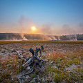 Steamy Sunrise In Yellowstone by Michael Ver Sprill