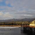 Stearns Wharf Santa Barbara Sunset by Kyle Hanson