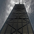 Steel Grey Skyrise Chicago by Skip Willits