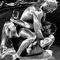 Steel Men Fighting 5 by Frederic A Reinecke