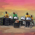 Steel Pan Players Antigua by James  Mingo