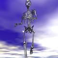 Steel Running Skeleton On Wet Sand by Nicholas Burningham