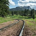 Steel Tracks In The Black Hills by Cary Leppert