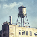 Steel Water Tower, Brooklyn New York by Gary Heller