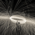 Steel Wool Light Works by Georgia Fowler