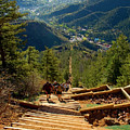 Steep Manitou Incline And Barr Trail by Steve Krull