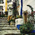 Step Street In Obidos by Sarah Loft