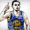 Steph Curry, Golden State Warriors - 20 by Andrea Mazzocchetti