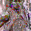 Stephen Curry Golden State Warriors Digital Painting 2 by David Haskett II