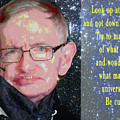 Stephen Hawking Poster by Dan Sproul