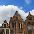 Stepped Gables Of The Brick Houses In Jan Van Eyck Square by Louise Heusinkveld
