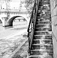 Steps By Pont Neuf, Paris by Jean Gill