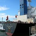 Stern Of Ship Great Prosperity At Dock by Alan Espasandin