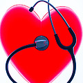 Stethoscope And Plastic Heart by Voisin/Phanie
