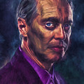 Steve Buscemi Actor Painted by David Haskett II