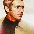 Steve Mcqueen, Vintage Hollywood Actor by Mary Bassett