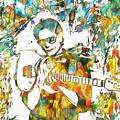 Steve Vai Paint Splatter by Dan Sproul