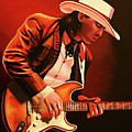 Stevie Ray Vaughan Painting by Paul Meijering