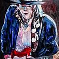Stevie Ray Vaughan by Paula Baker