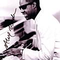 Stevie Wonder Autographed by Pd