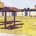 Sticker Landscape 1 Schoolyard by Karl Frey
