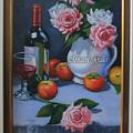 Still Life 1,rose N Wine by Setya Wijoyo