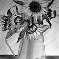 Still Life - 6 Sunflowers In A Jug by Jose A Gonzalez Jr