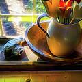 Still Life By Window by Robert Meyerson