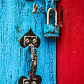 Still Life In Blue And Red by Jeff Clarke