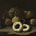 Still Life Of Sugared Fruits by Circle of Giuseppe Recco