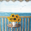 Still Life On A Patio by Barry Levy