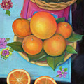 Still Life Oranges And Grapefruit by Marlene Book