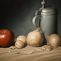 Still Life Painting With Onions by Eric Bossik