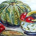 Still-life Pumpkin And Apples by Sarina Damen