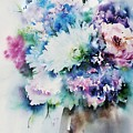 Still Life Rose Bouquet Watercolour by Shabby Chic and Vintage Art