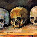 Still Life, Three Skulls by Paul Cezanne