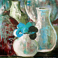 Still Life With A Blue Flower by Gina De Gorna