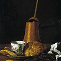 Still Life With A Chocolate Service by Luis Egidio Melendez