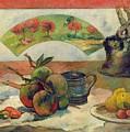 Still Life With A Fan by Paul Gauguin