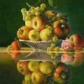 Still Life With A Rose by Giuseppe Mariotti